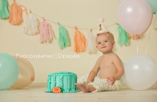 Felicity ~ One Year Smash Cake Tulsa OK