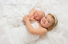 Nola and Eliza ~ Tulsa Newborn Sibling Portraits