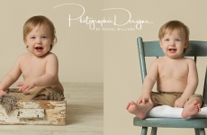 Ben and Sam ~ Twin One Year Portraits ~ Tulsa, Oklahoma
