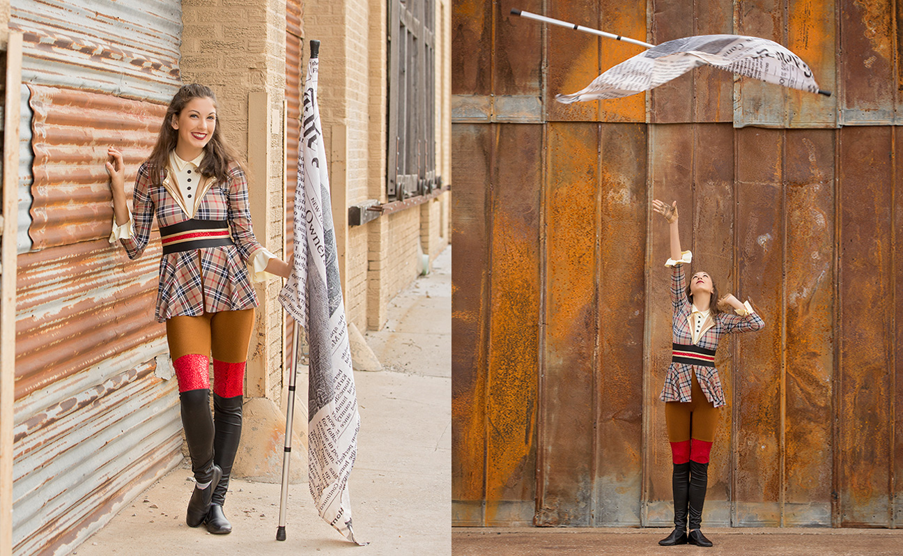 Tulsa Senior Portrait Photographer Girl Flag Toss