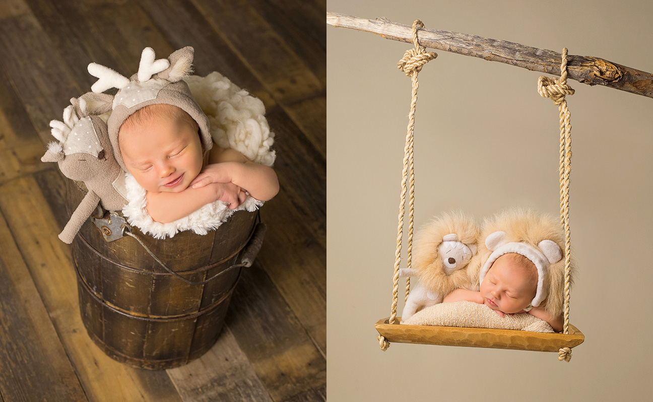 Tulsa Newborn Photographer Baby Animal