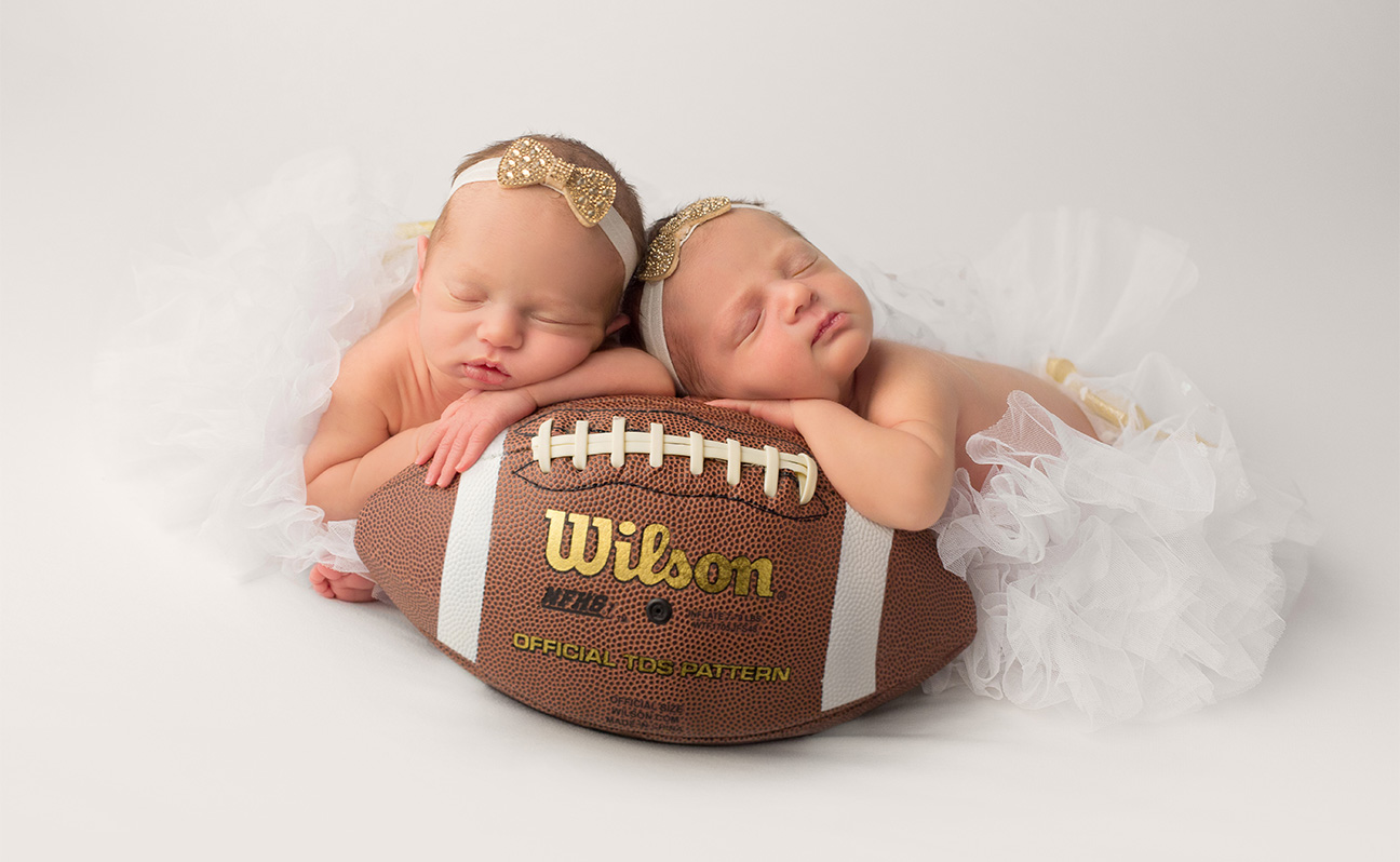 Twins Tulsa Newborn Photographer Football