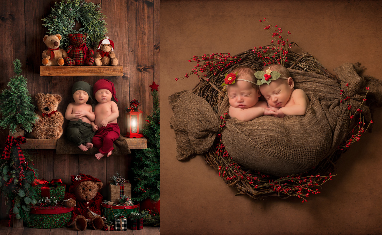 Tulsa Newborn Photographer Twins Christmas