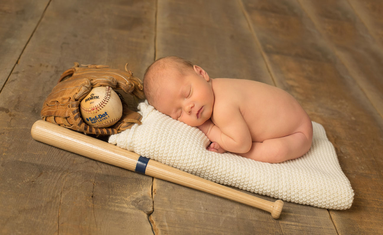 Newborn Baseball Photography Tulsa