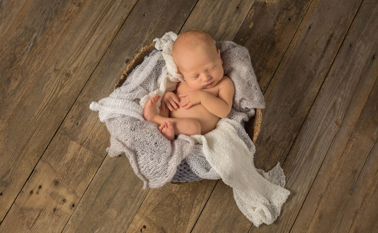 Top Tulsa Newborn Photographer Basket Photo