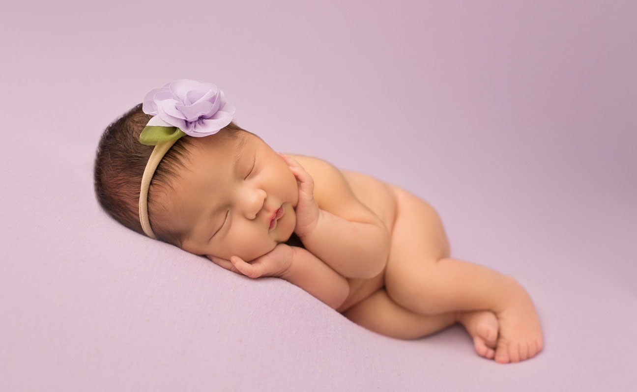 Tulsa Baby Photographer Purple BG