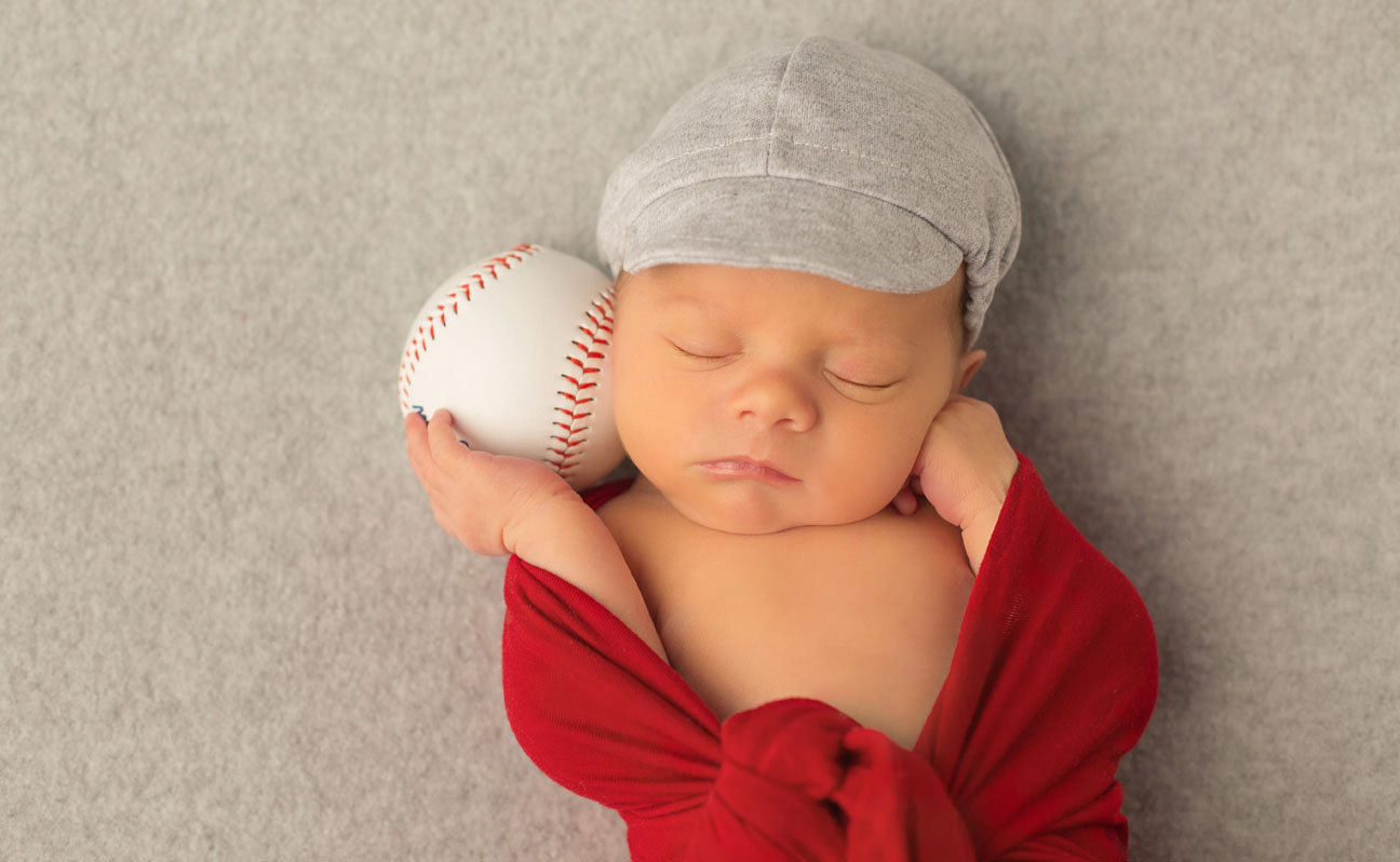 Tulsa Newborn Baby Photography Baseball