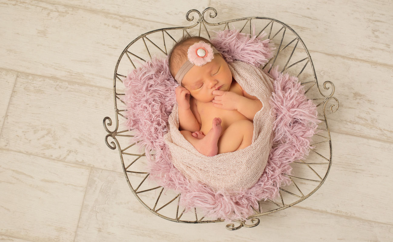 Tulsa Newborn Photography Basket