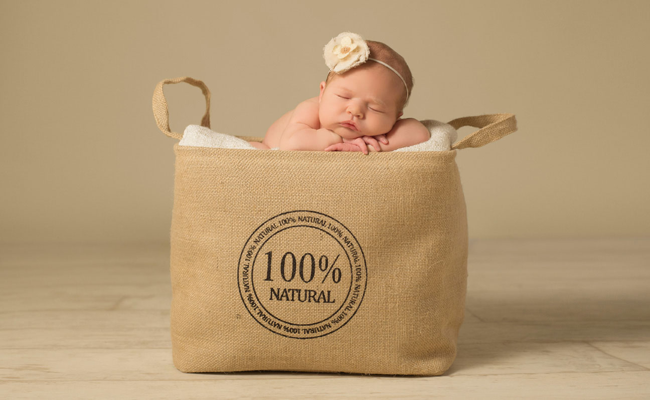 Tulsa Newborn Photography Natural Bag