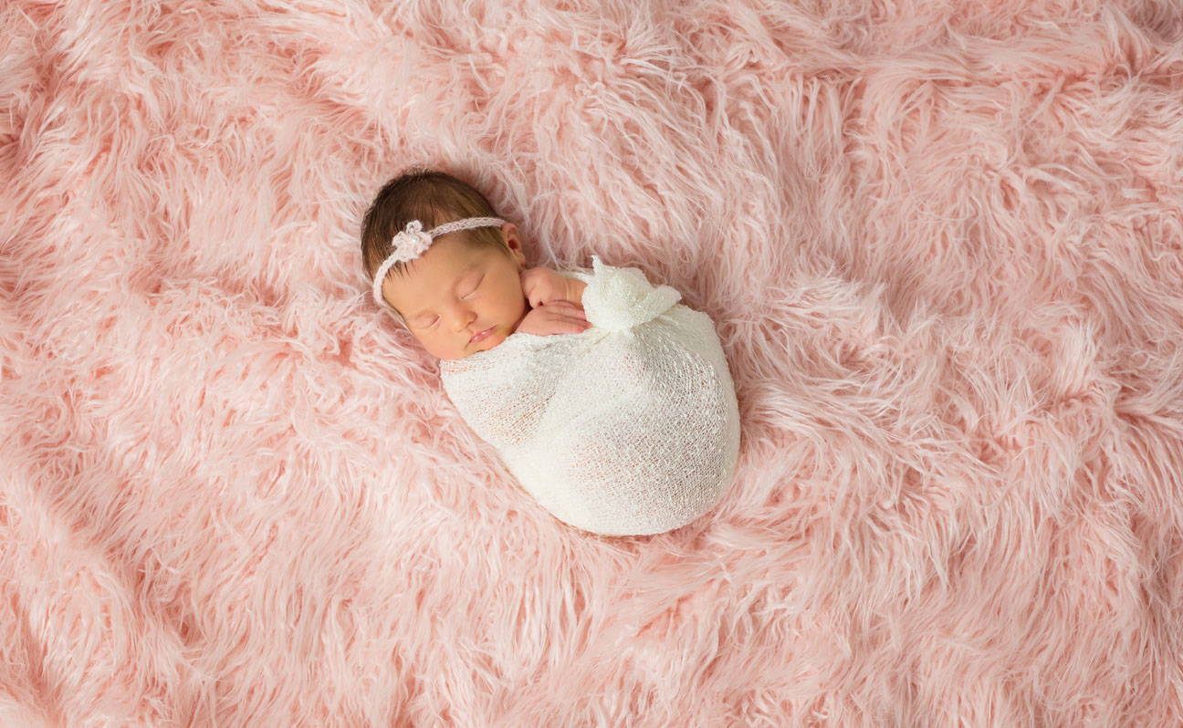 Tulsa Newborn Photography Pink BG