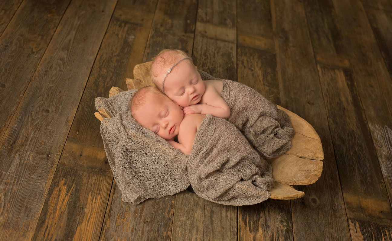 Tulsa Newborn Photography Twin Babies