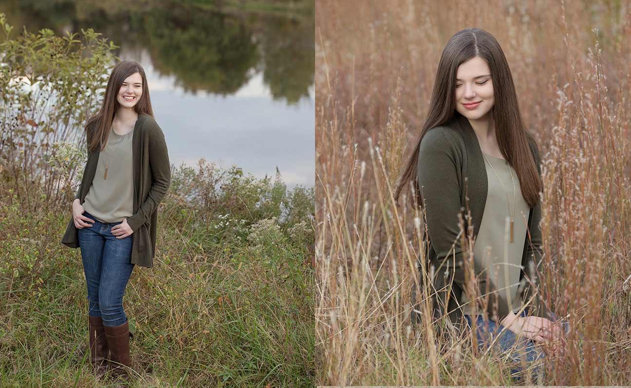 Tulsa Senior Portrait Photographer Girl Tall Grass